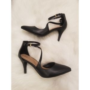 Brand New Asymetrical strap black heels